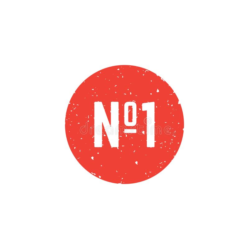 Icône ronde du numéro un illustration de vecteur