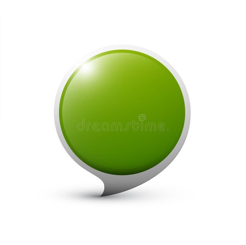 Icône ronde verte illustration stock