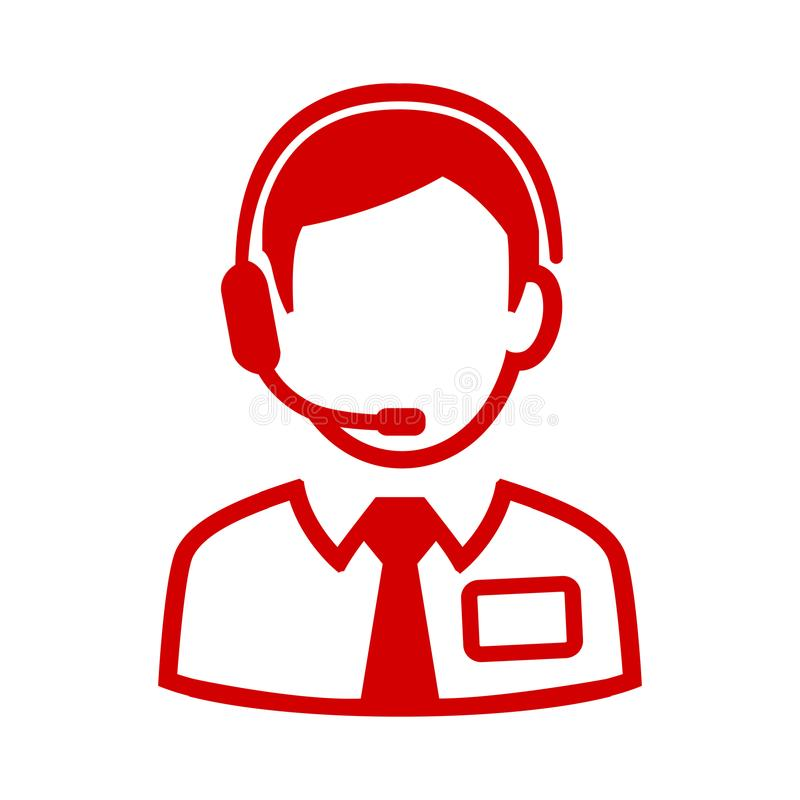 Icône rouge d'expéditeur - vecteur illustration de vecteur
