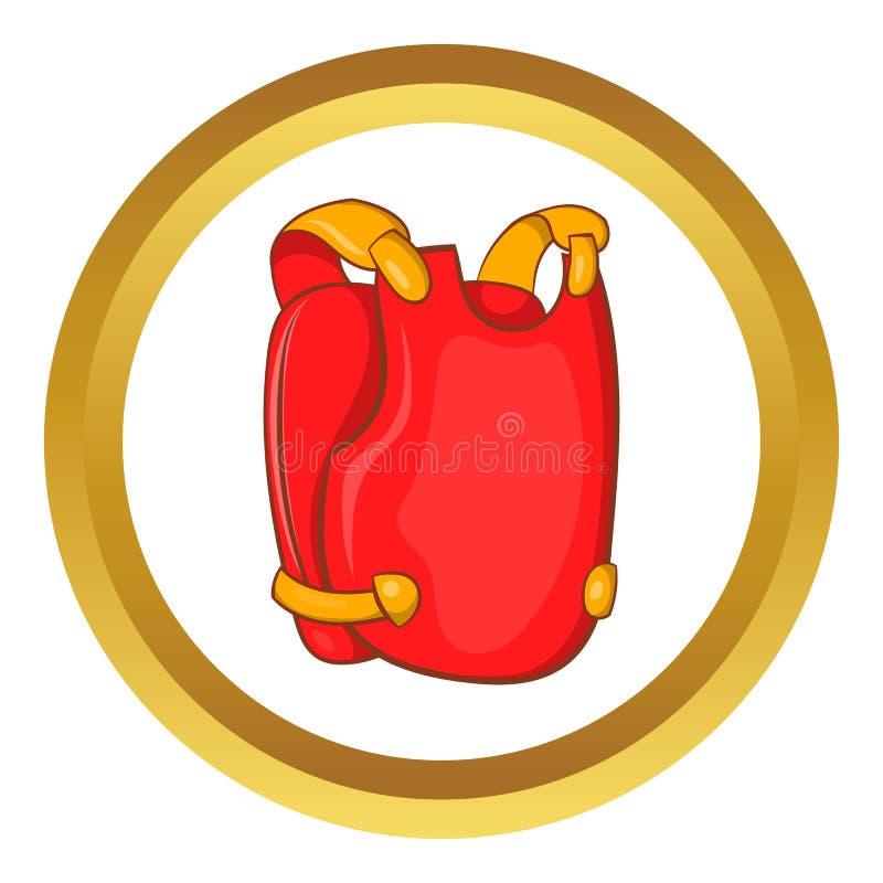 Icône rouge de gilet de paintball illustration stock