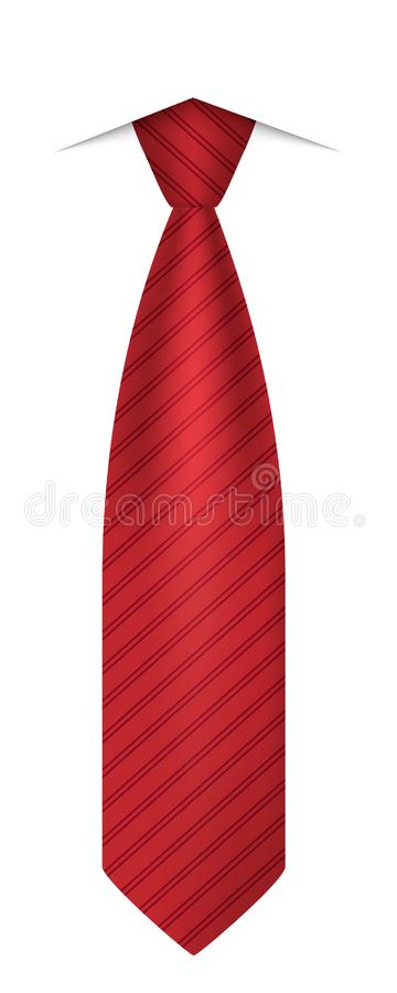 Icône rouge de lien, style réaliste illustration de vecteur