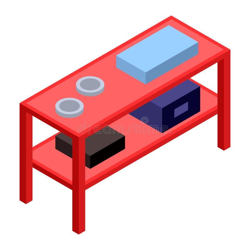 Icône rouge de support, style isométrique illustration libre de droits