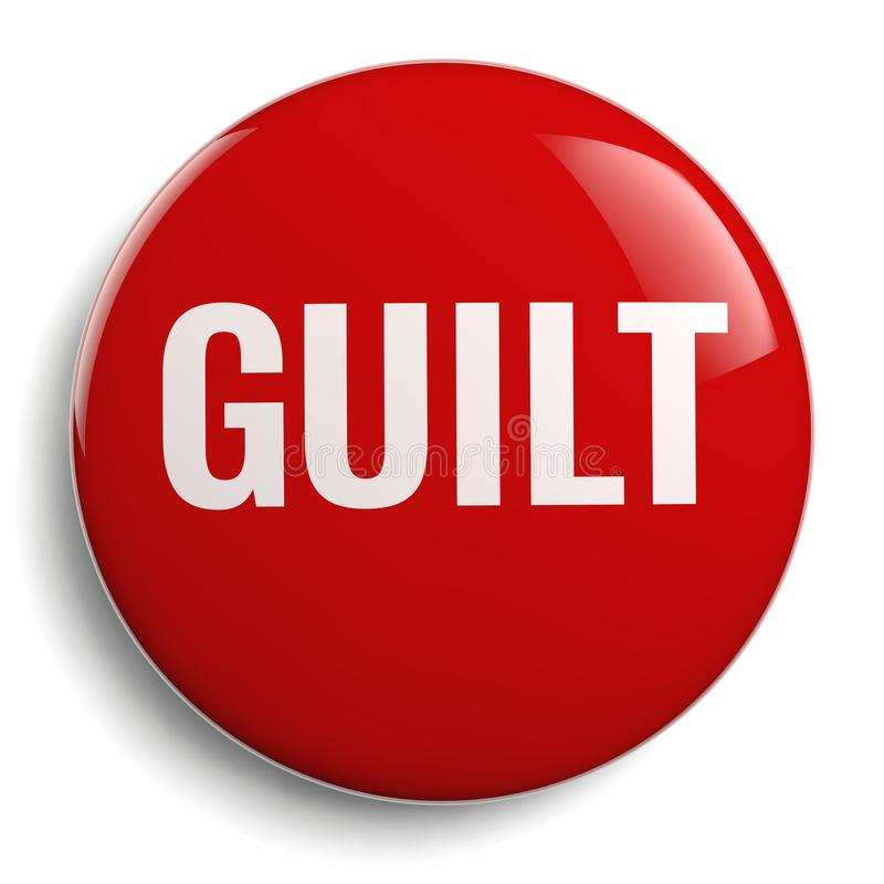 Icône rouge de symbole de culpabilité d'isolement illustration libre de droits