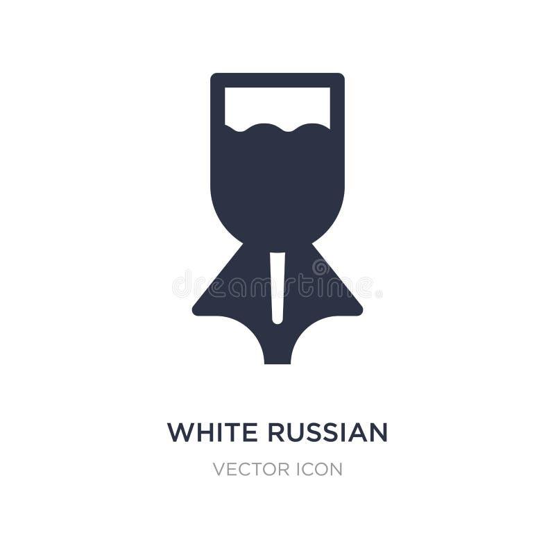 icône russe blanche de boissons sur le fond blanc Illustration simple d'élément de concept de boissons illustration de vecteur