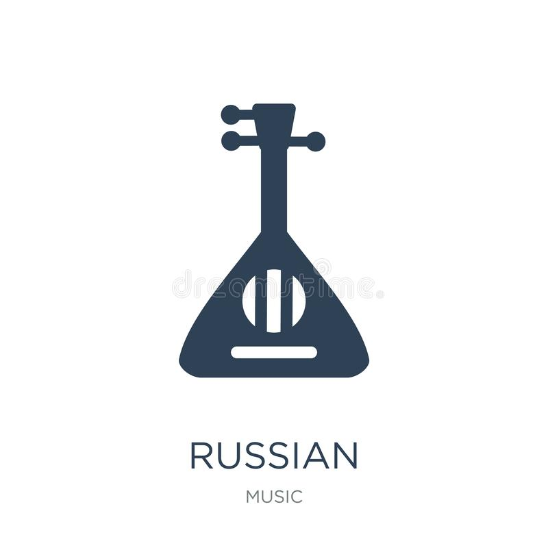 icône russe dans le style à la mode de conception icône russe d'isolement sur le fond blanc symbole plat simple et moderne d'icôn illustration libre de droits