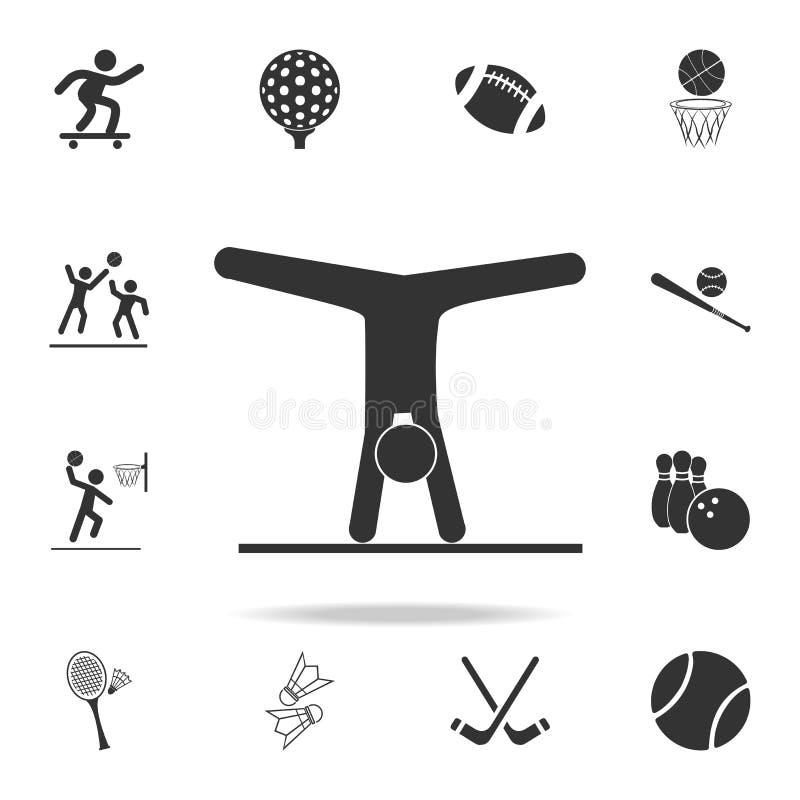Icône rythmique de sport de gymnastique Ensemble détaillé d'icônes d'athlètes et d'accessoires Conception graphique de qualité de illustration de vecteur