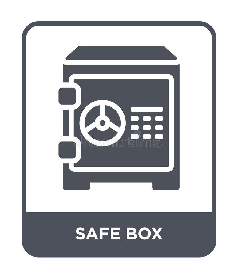 icône sûre de boîte dans le style à la mode de conception icône sûre de boîte d'isolement sur le fond blanc appartement simple et illustration de vecteur