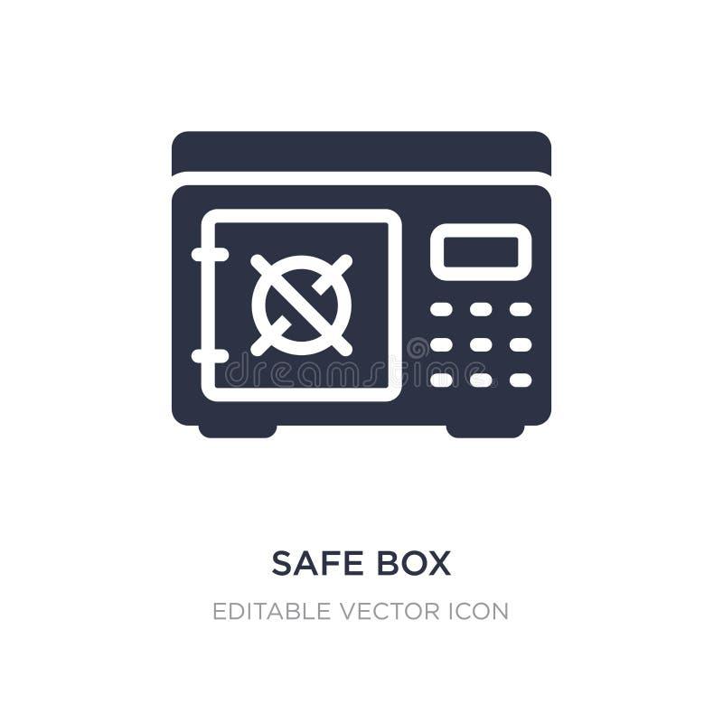 icône sûre de boîte sur le fond blanc Illustration simple d'élément de concept de sécurité illustration stock