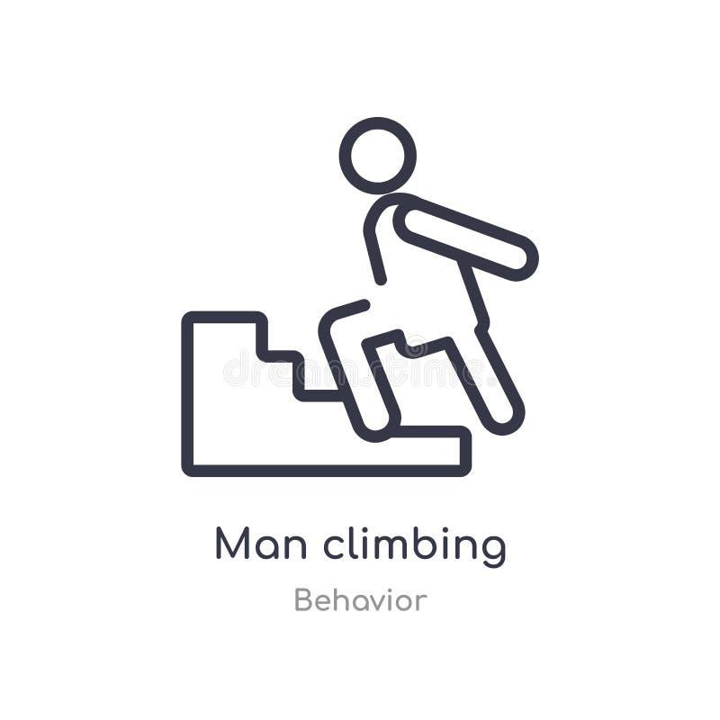 icône s'élevante d'ensemble d'homme r icône s'élevante d'homme mince editable de course dessus illustration stock