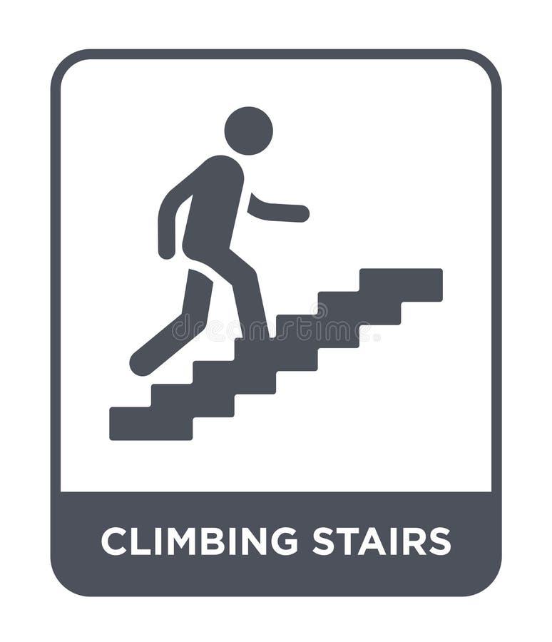 icône s'élevante d'escaliers dans le style à la mode de conception icône s'élevante d'escaliers d'isolement sur le fond blanc les illustration stock