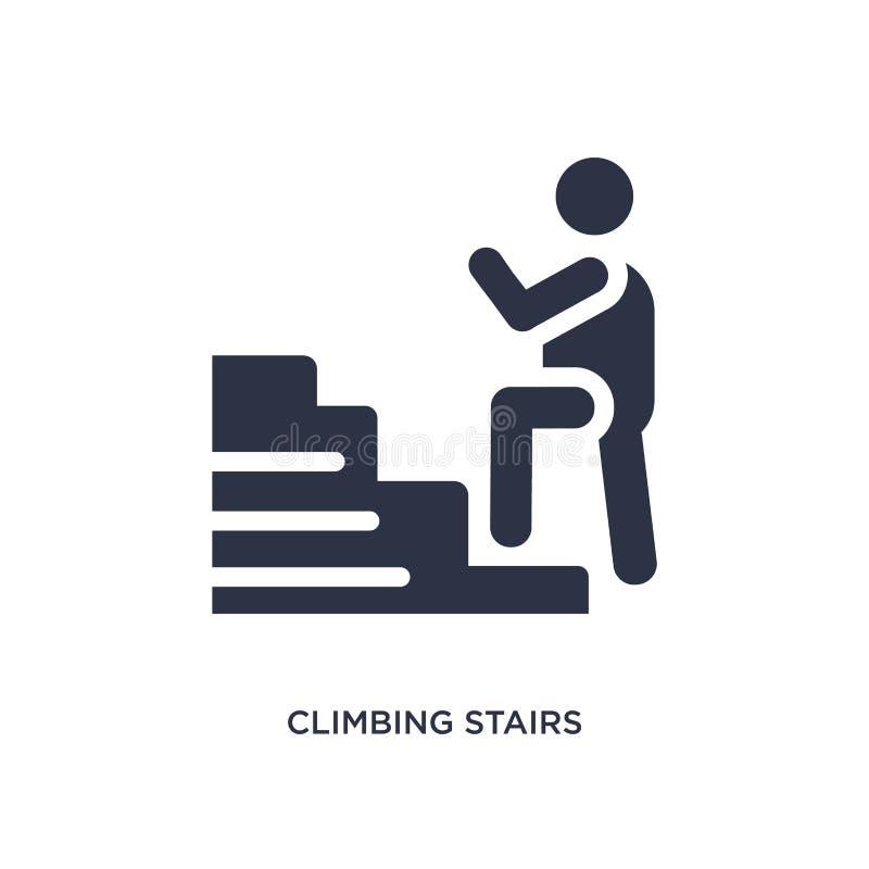 icône s'élevante d'escaliers sur le fond blanc Illustration simple d'élément de concept de comportement illustration de vecteur