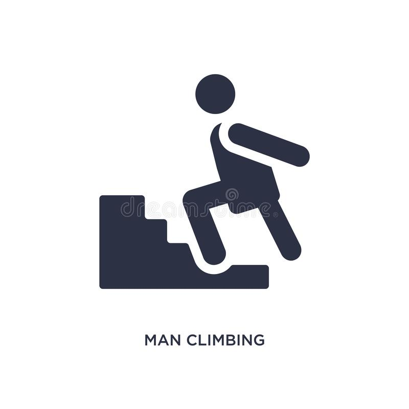 icône s'élevante d'homme sur le fond blanc Illustration simple d'élément de concept de comportement illustration de vecteur