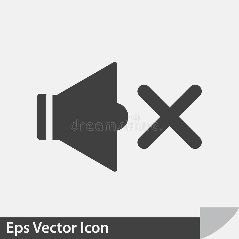 Icône saine de vecteur de haut-parleur illustration stock