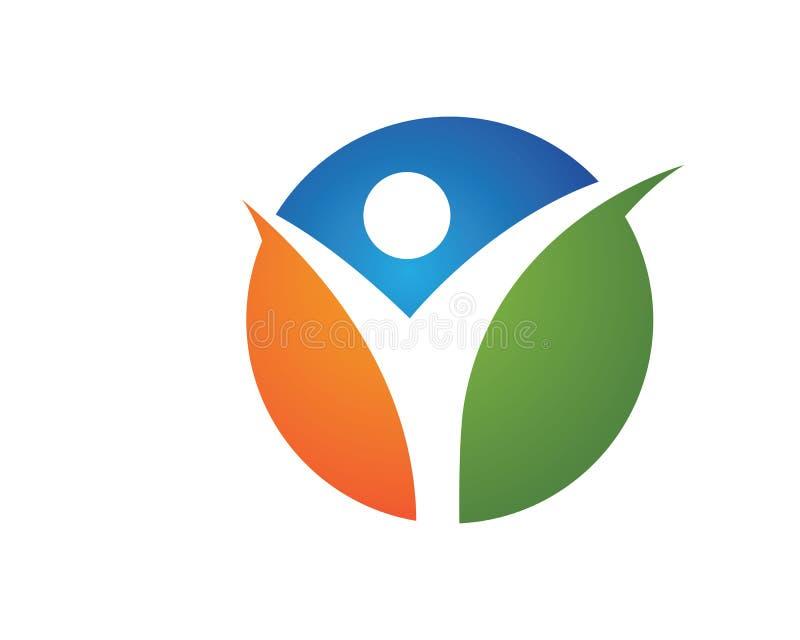 Icône saine de vecteur de logo de la vie illustration stock