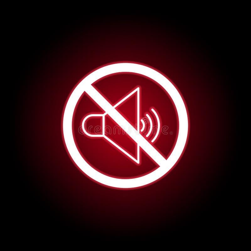 Icône saine interdite dans le style au néon rouge Peut ?tre employ? pour le Web, logo, l'appli mobile, UI, UX illustration stock