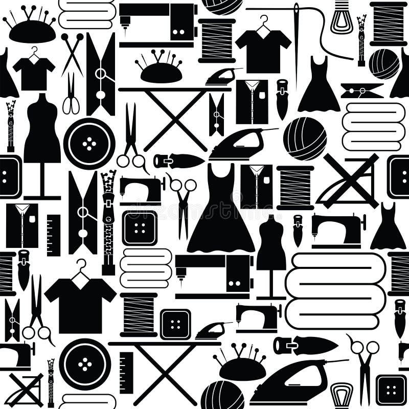 Icône sans couture de couture de fond de modèle illustration stock