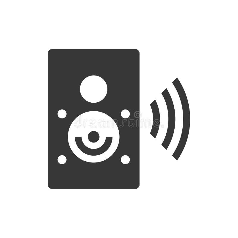 Icône sans fil de haut-parleur illustration stock