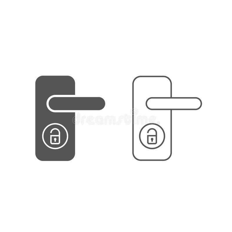 Icône sans fil de vecteur de serrure de porte, système futé de serrure Illustration plate moderne et simple de vecteur pour le si illustration de vecteur