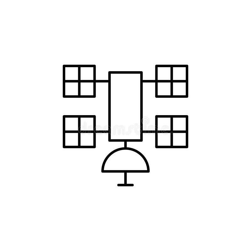 Icône satellite d'ensemble de robotique Des signes et les symboles peuvent être employés pour le Web, logo, l'appli mobile, UI, U illustration de vecteur