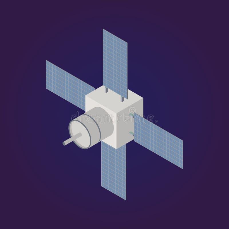 Icône satellite isométrique de vecteur illustration libre de droits