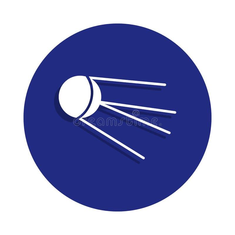 Icône satellite soviétique dans le style d'insigne Un de l'icône de collection de l'espace peut être employé pour UI, UX illustration de vecteur