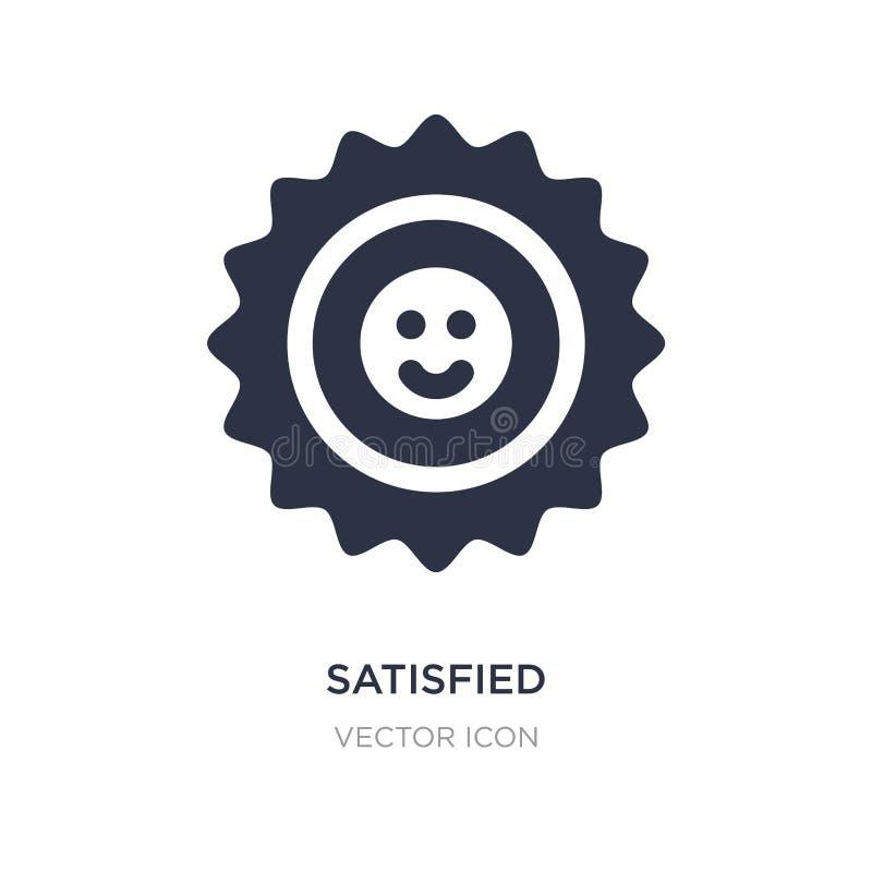 icône satisfaisante sur le fond blanc Illustration simple d'élément de concept de retour illustration stock