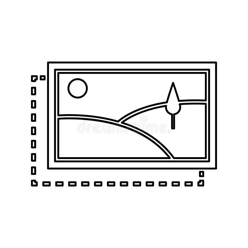 icône satisfaite de placement Élément de sécurité de cyber pour le concept et l'icône mobiles d'applis de Web Ligne mince icône p illustration libre de droits
