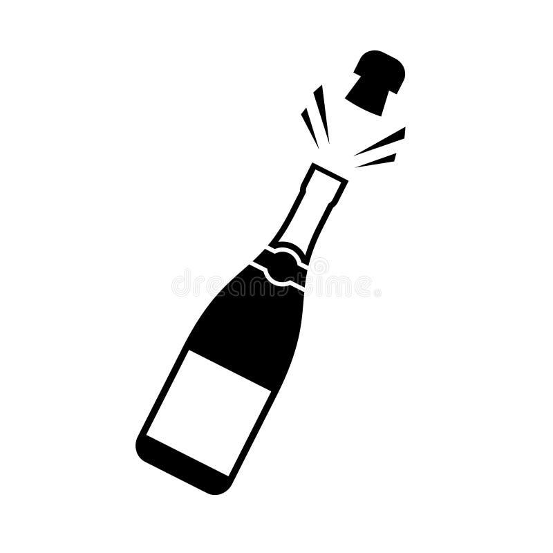 Icône sautante de liège de Champagne illustration stock