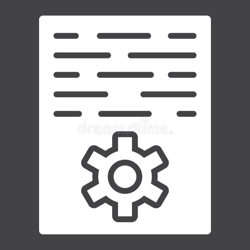 Icône, seo et développement de glyph de vente d'article illustration libre de droits