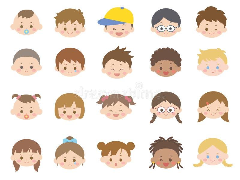 Icône set2 d'enfants illustration stock