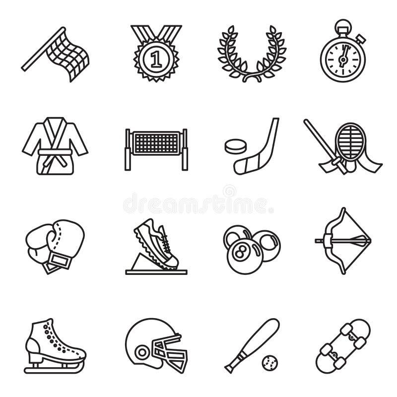 Icône set2 de sport illustration de vecteur