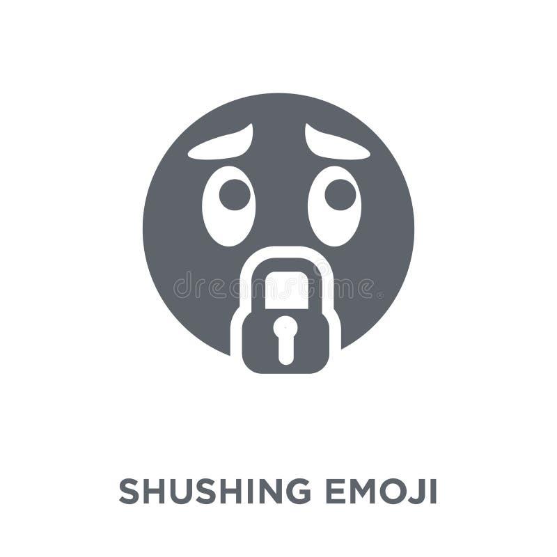 Icône Shushing d'emoji de collection d'Emoji illustration de vecteur