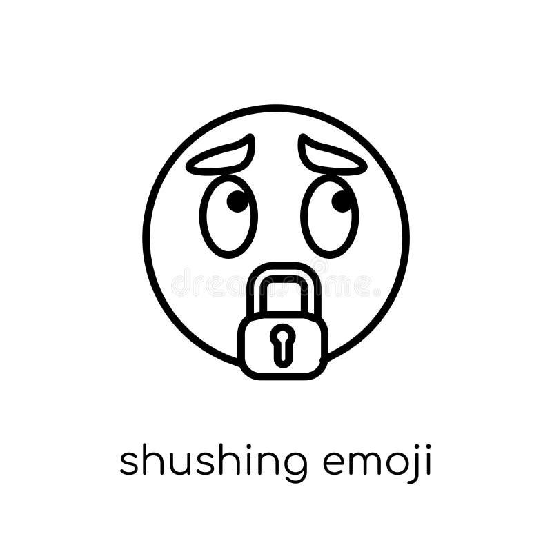 Icône Shushing d'emoji de collection d'Emoji illustration libre de droits