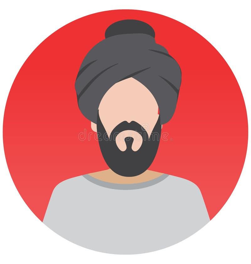 Icône sikhe d'illustration de vecteur qui peut facilement modifier ou éditer illustration libre de droits