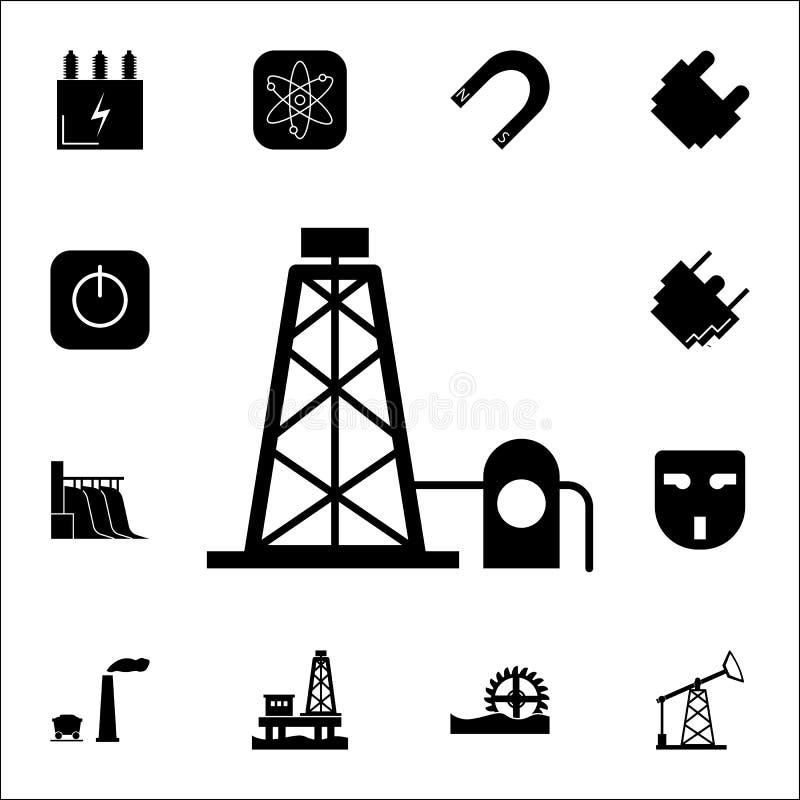 Icône simple américaine traditionnelle Ensemble d'icônes d'énergie Icônes de la meilleure qualité de conception graphique de qual illustration de vecteur