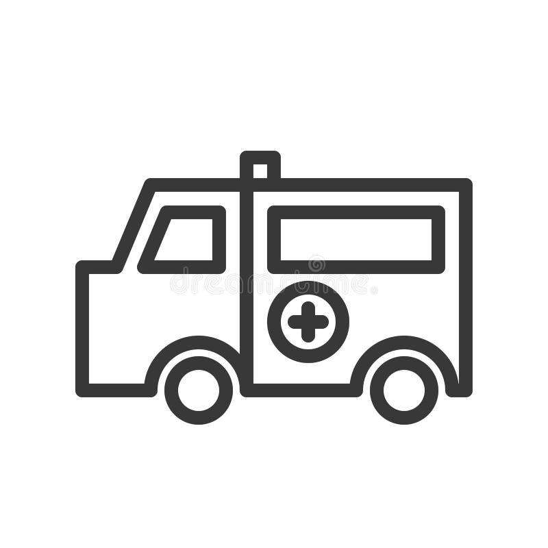 Icône simple d'ensemble de voiture d'ambulance, hôpital connexe illustration de vecteur