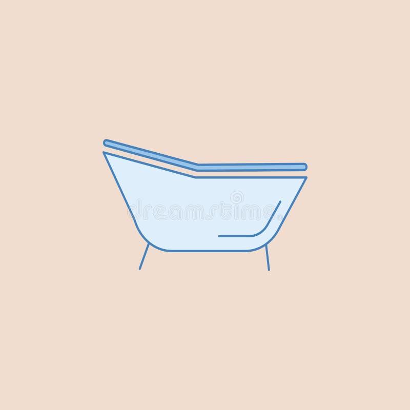 Icône simple de baignoire Élément de salle de bains pour l'illustration mobile d'apps de concept et de Web Icône d'ensemble de ch illustration de vecteur