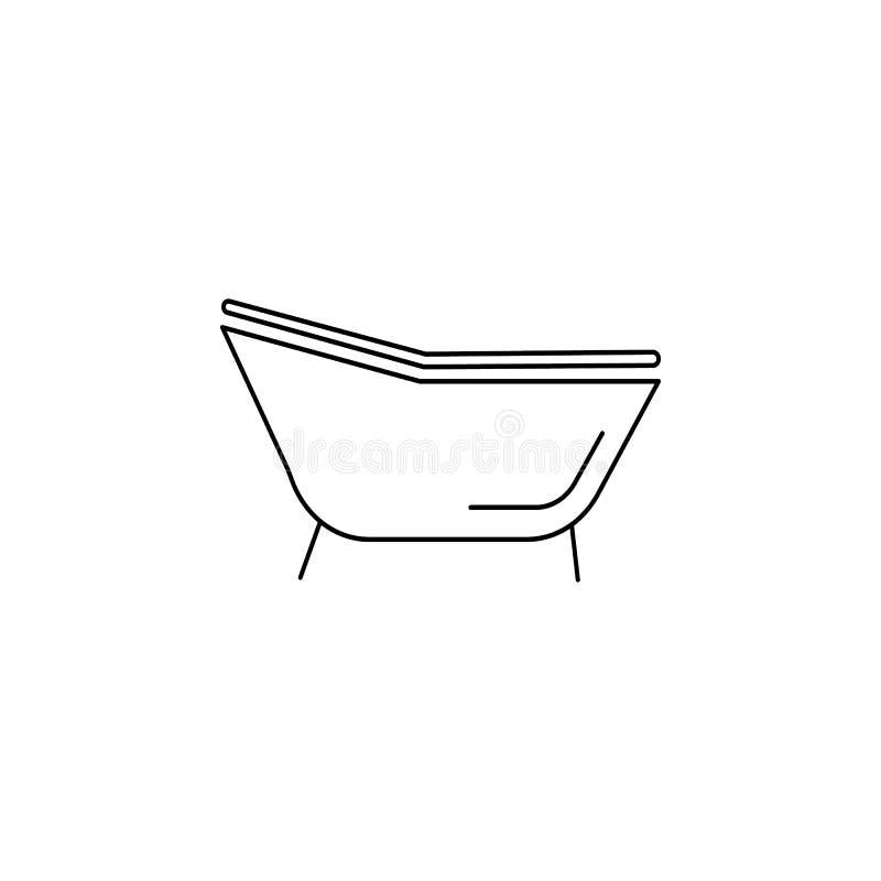 Icône simple de baignoire illustration libre de droits