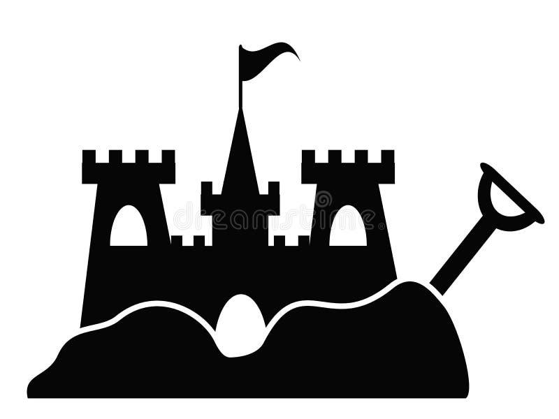 Icône simple de château de sable illustration libre de droits