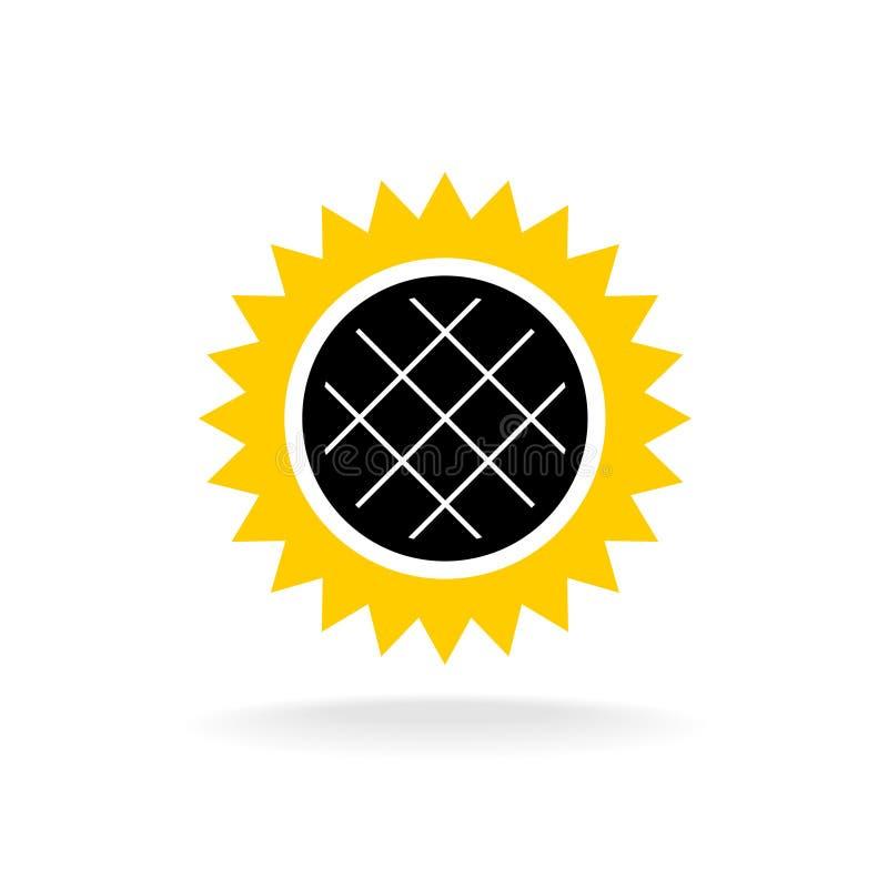 Icône simple de couleur de tournesol illustration de vecteur