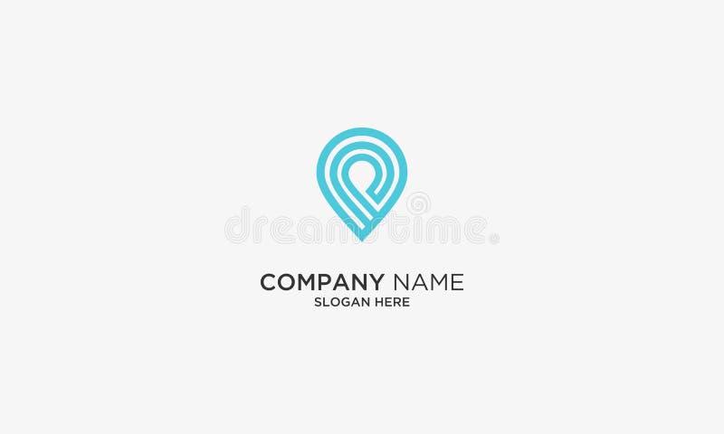 icône simple de logo de navigation, calibre d'icône de logo de goupille de carte Logo de voyage image stock