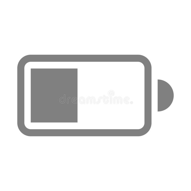 Icône simple de pile électrique sur le fond blanc illustration de vecteur