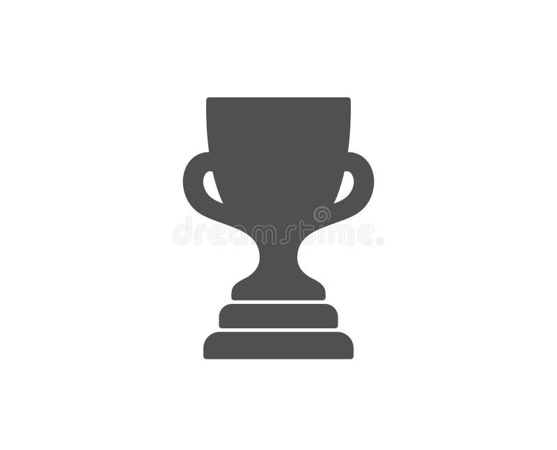Icône simple de tasse de récompense Trophée de gagnant illustration de vecteur