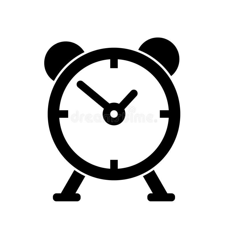 Icône simple de vecteur de réveil illustration stock