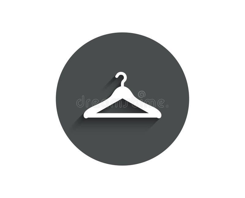 Icône simple de vestiaire Signe de garde-robe de cintre illustration libre de droits