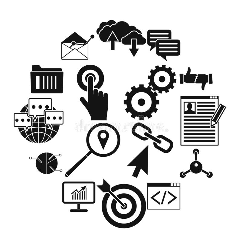 Icône simple de Web de Seo illustration libre de droits