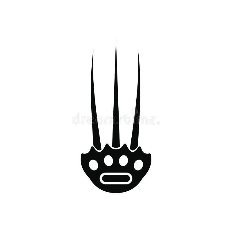 Icône simple noire de Tekkokagi illustration libre de droits