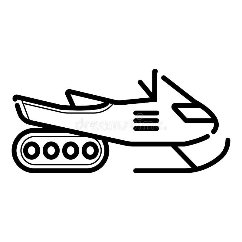 Icône sledding de scooter d'hiver illustration libre de droits