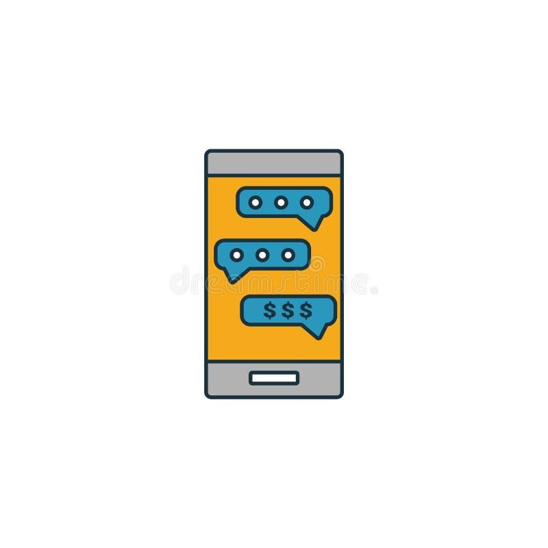 Icône Sms Banking Élément simple de la collection d'icônes de finance personnelle Icône Creative Sms Banking ui, ux, applications illustration libre de droits