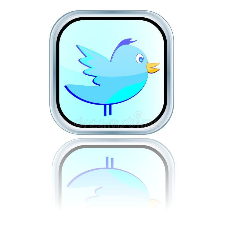 Icône sociale de bip de médias illustration stock